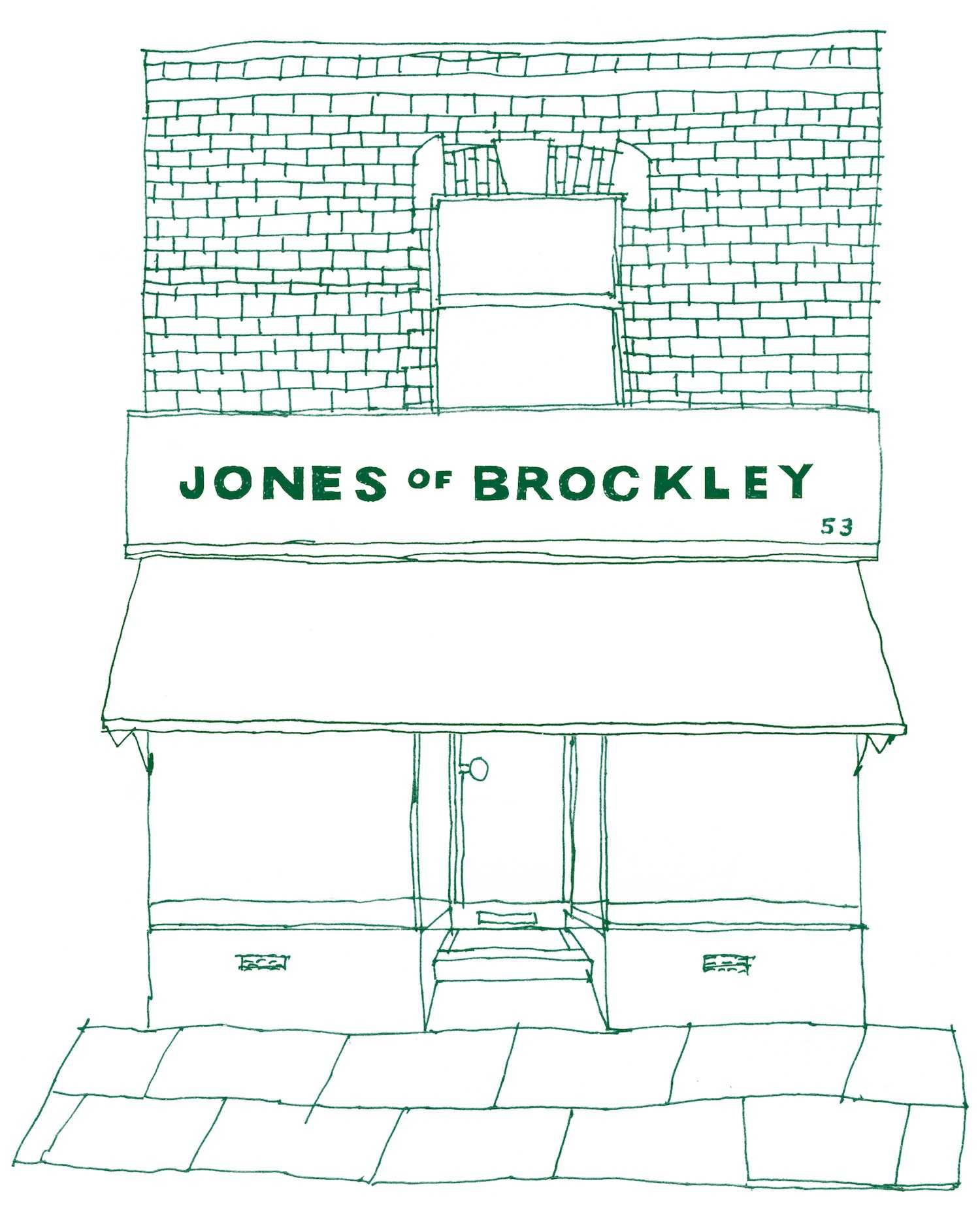 An illustration of the East Dulwich shopfront