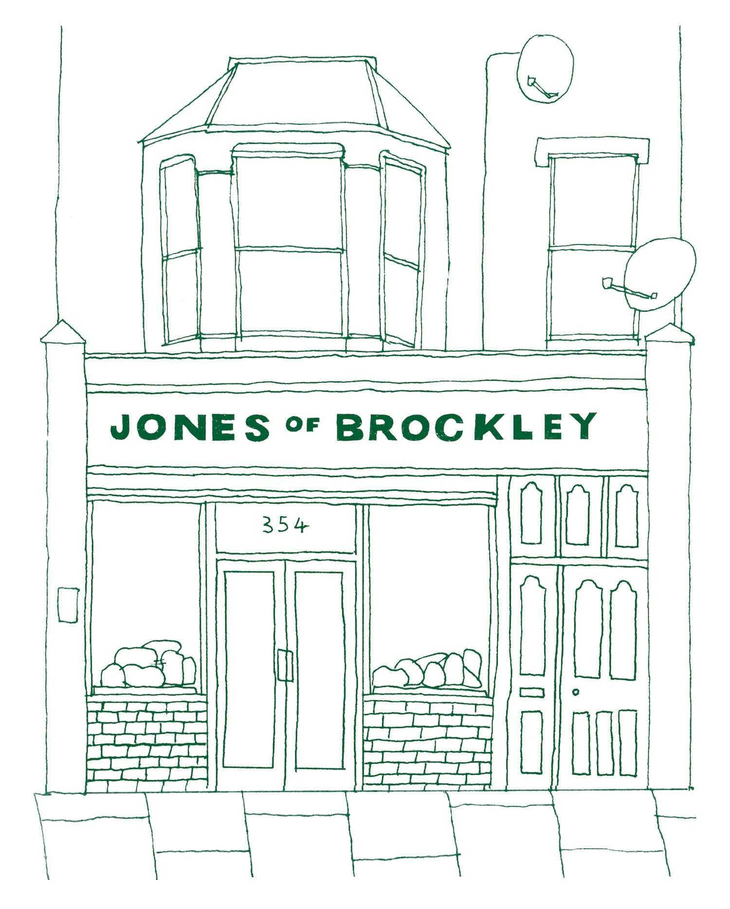 An illustration of the Crofton Park shopfront